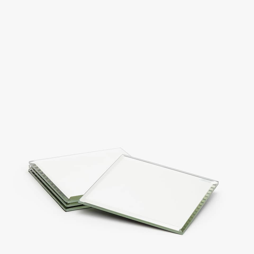 SQUARE MIRRORED COASTERS (SET OF 4)