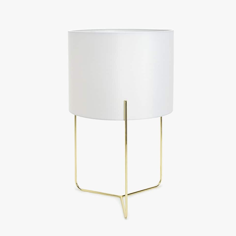 LAMP WITH METAL STRUCTURE BASE