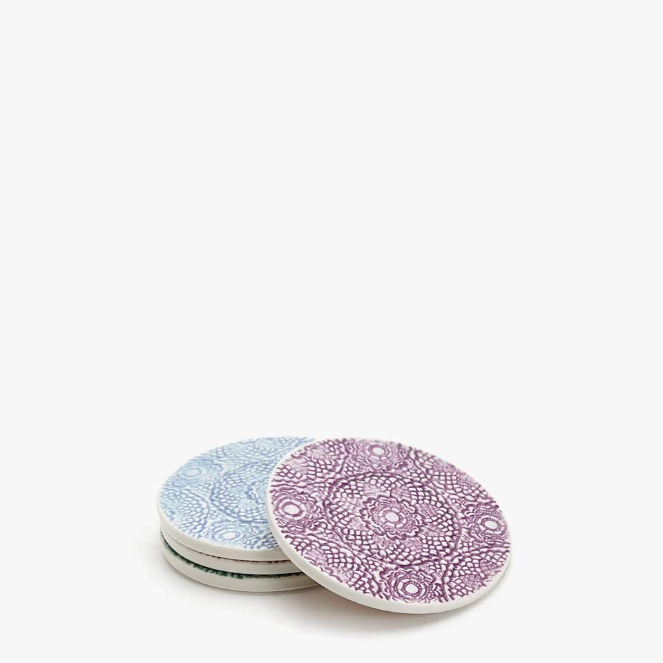 LACE-EFFECT COASTERS (SET OF 4)