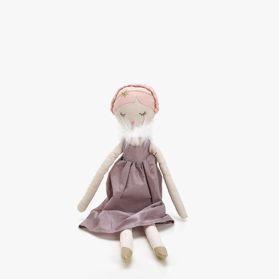 SOFT TOY DOLL WITH CAPE