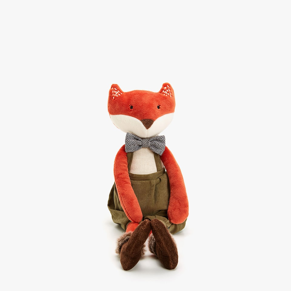 ANIMAL SOFT TOY WITH DUNGAREES