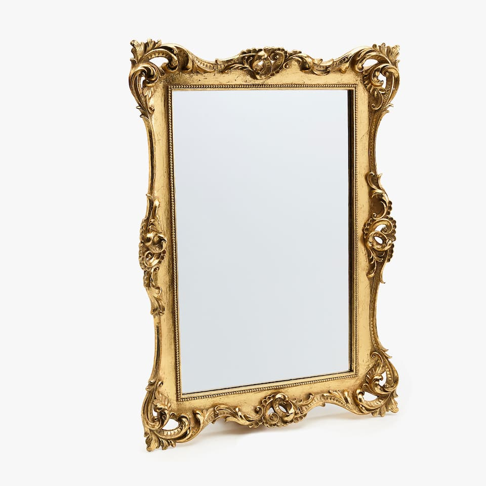 Gold die-cut mirror