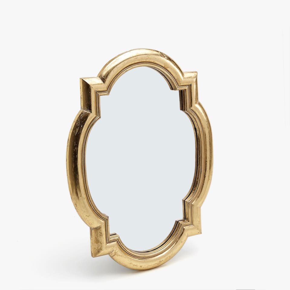 Mirror with gold edge