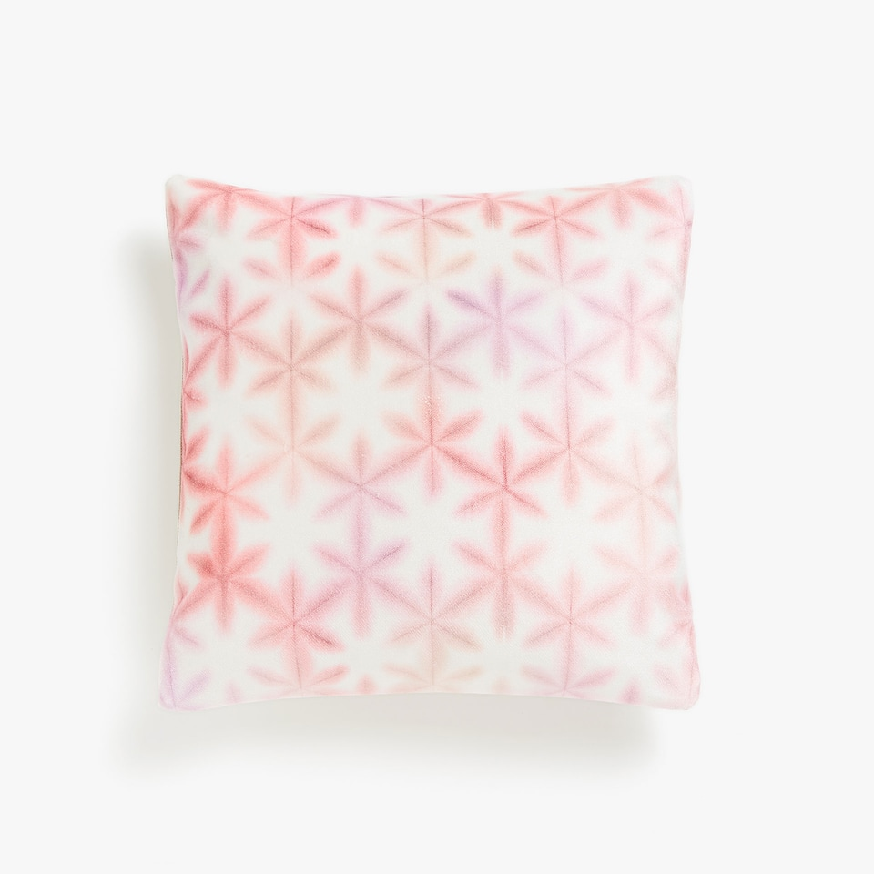 Multicoloured floral print cushion cover