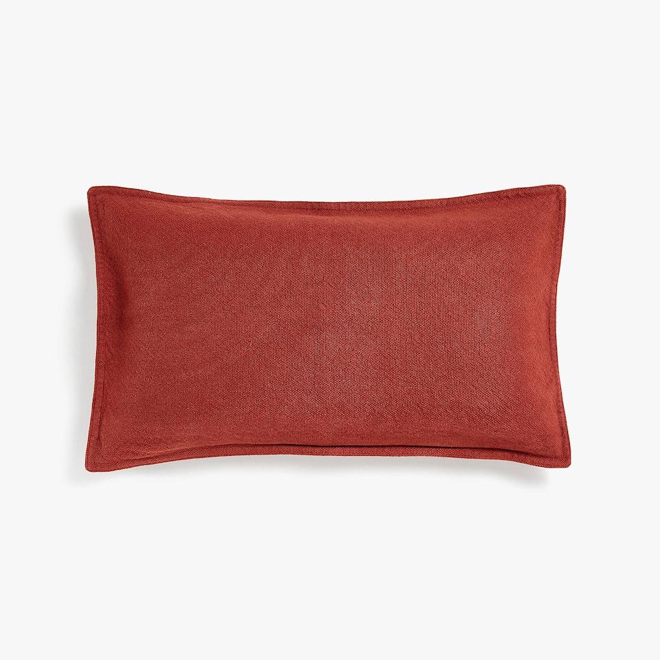 Faded coarse cotton cushion cover