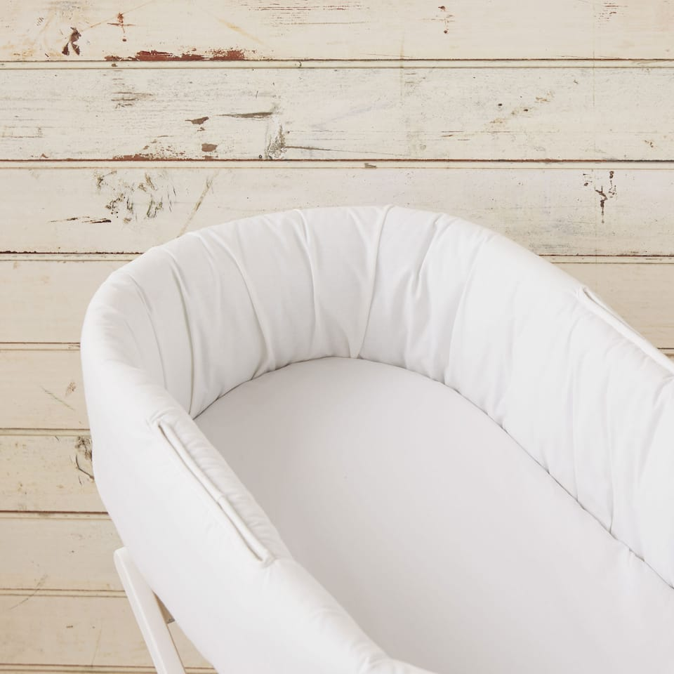PERCALE COTTON MOSES BASKET BOTTOM SHEET (PACK OF 2)