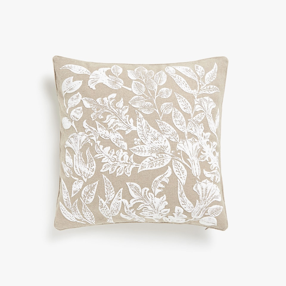 Textured print cushion cover