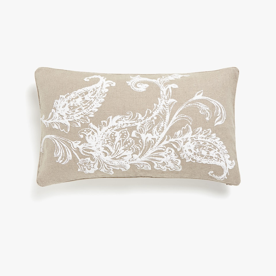 Ornate print cushion cover