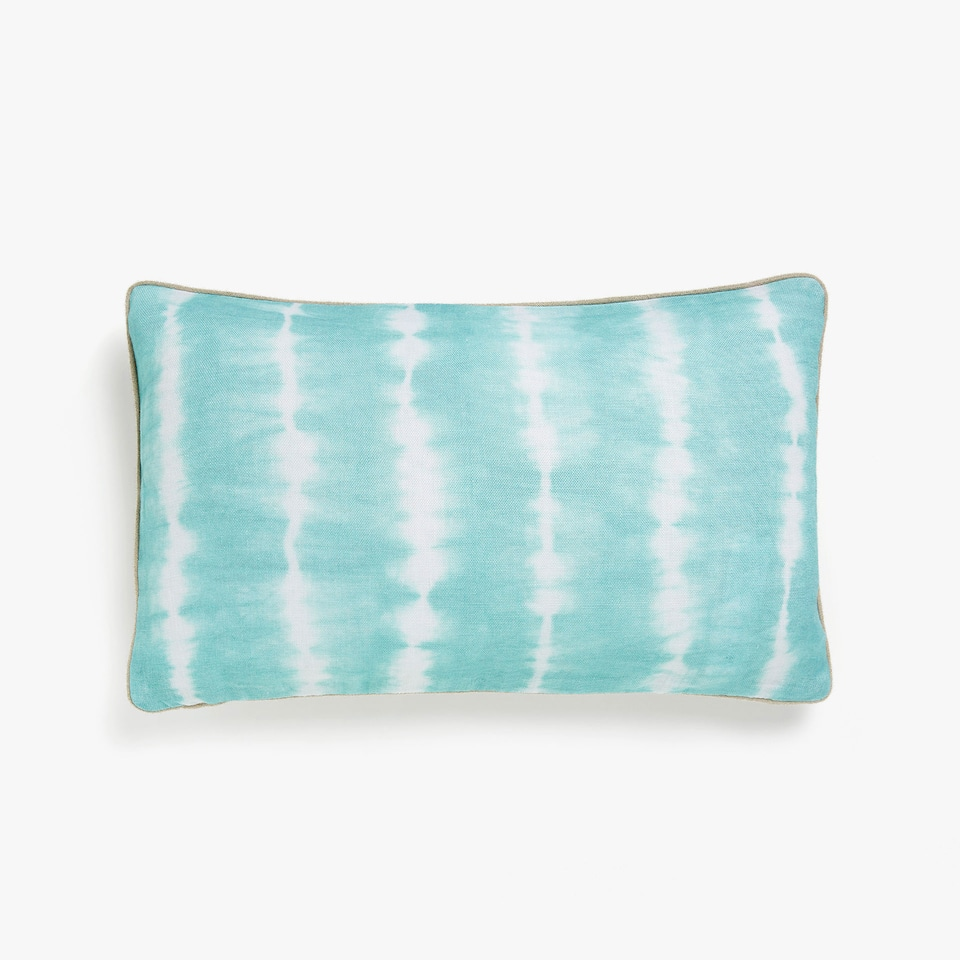 Tie-dye print cushion cover