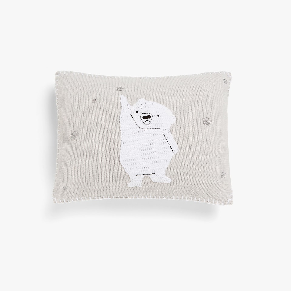 KIDS FDA COJIN CROCHET POLAR BEAR