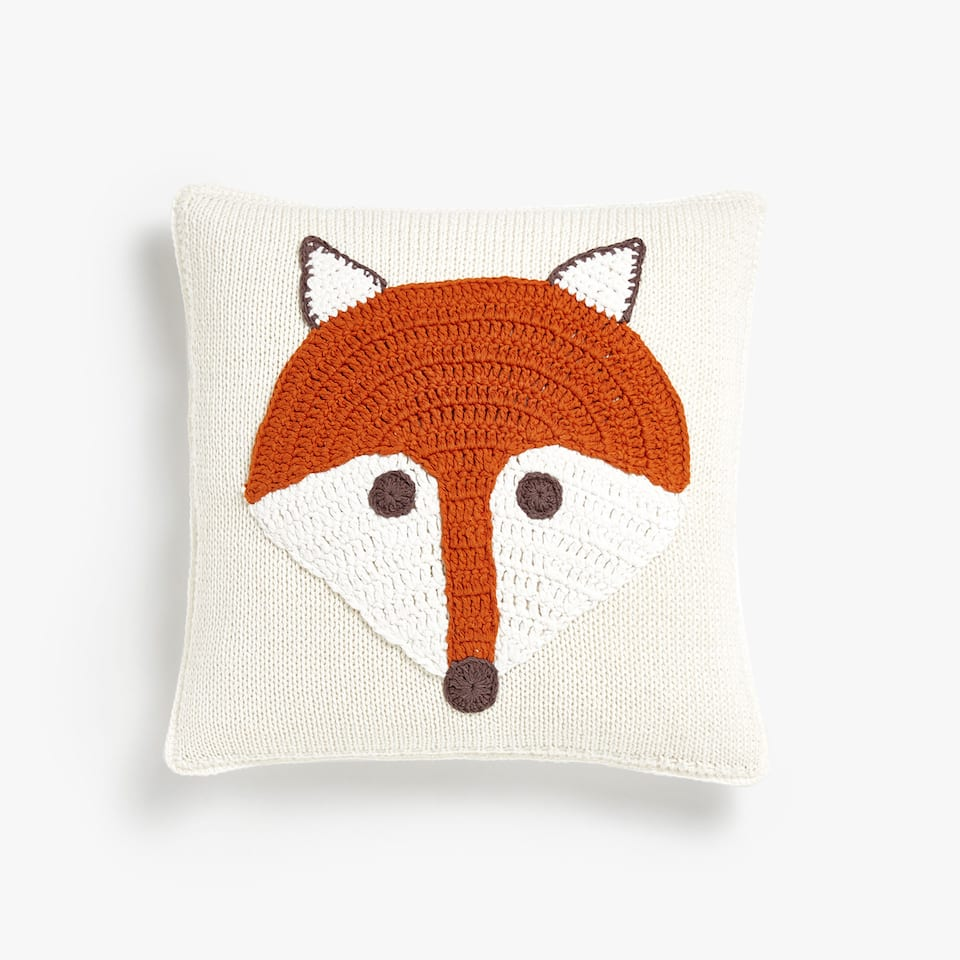 KIDS FDA COJIN CROCHET FOX