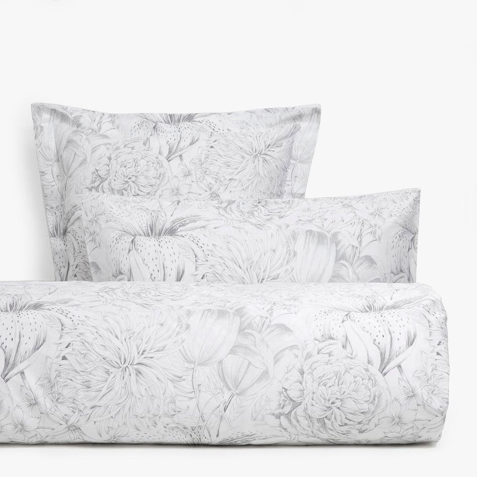 Satin floral chrysanthemum print duvet cover