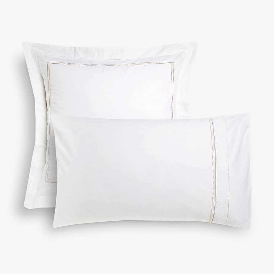 White pillow case with hemstitched edge