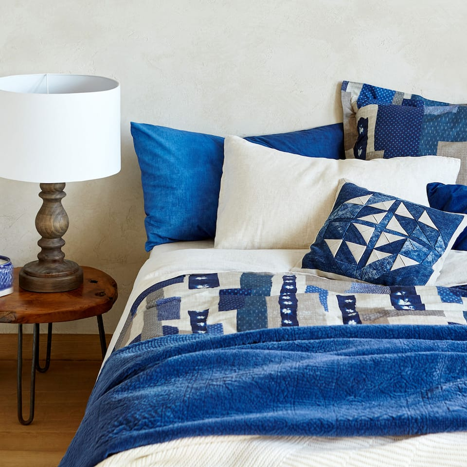 PATCHWORK-EFFECT PRINT DUVET COVER