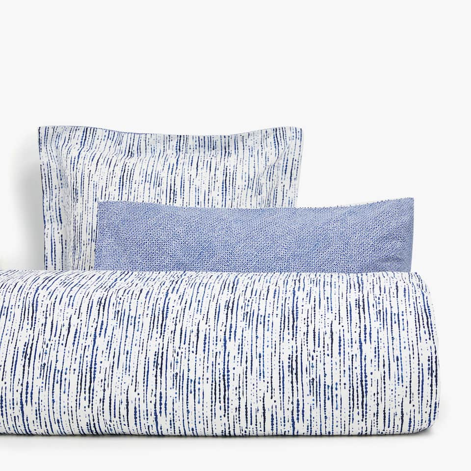 DARK BLUE SEERSUCKER DUVET COVER
