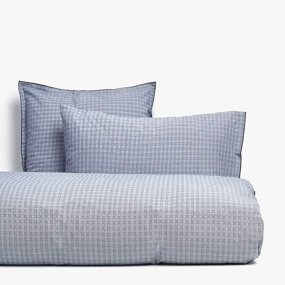 BLUE DYED-THREAD CHECKED DUVET COVER