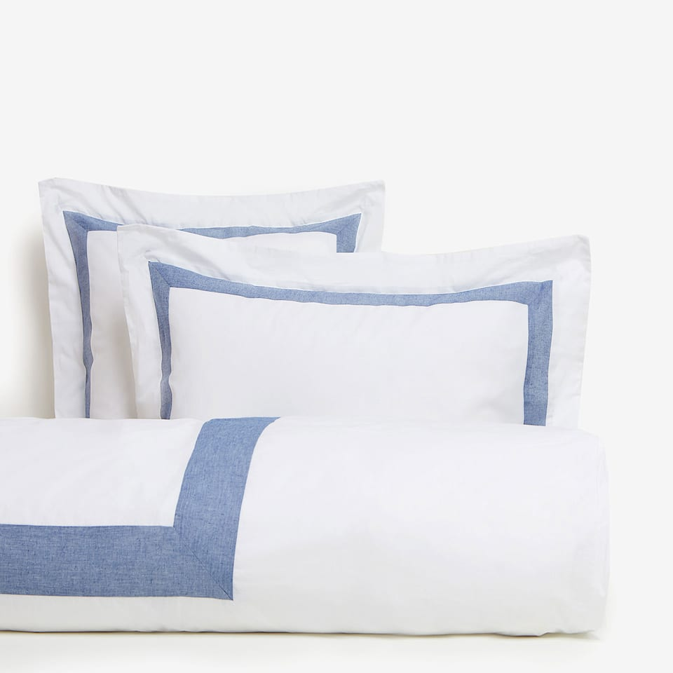 Contrast Percale Cotton Duvet Cover