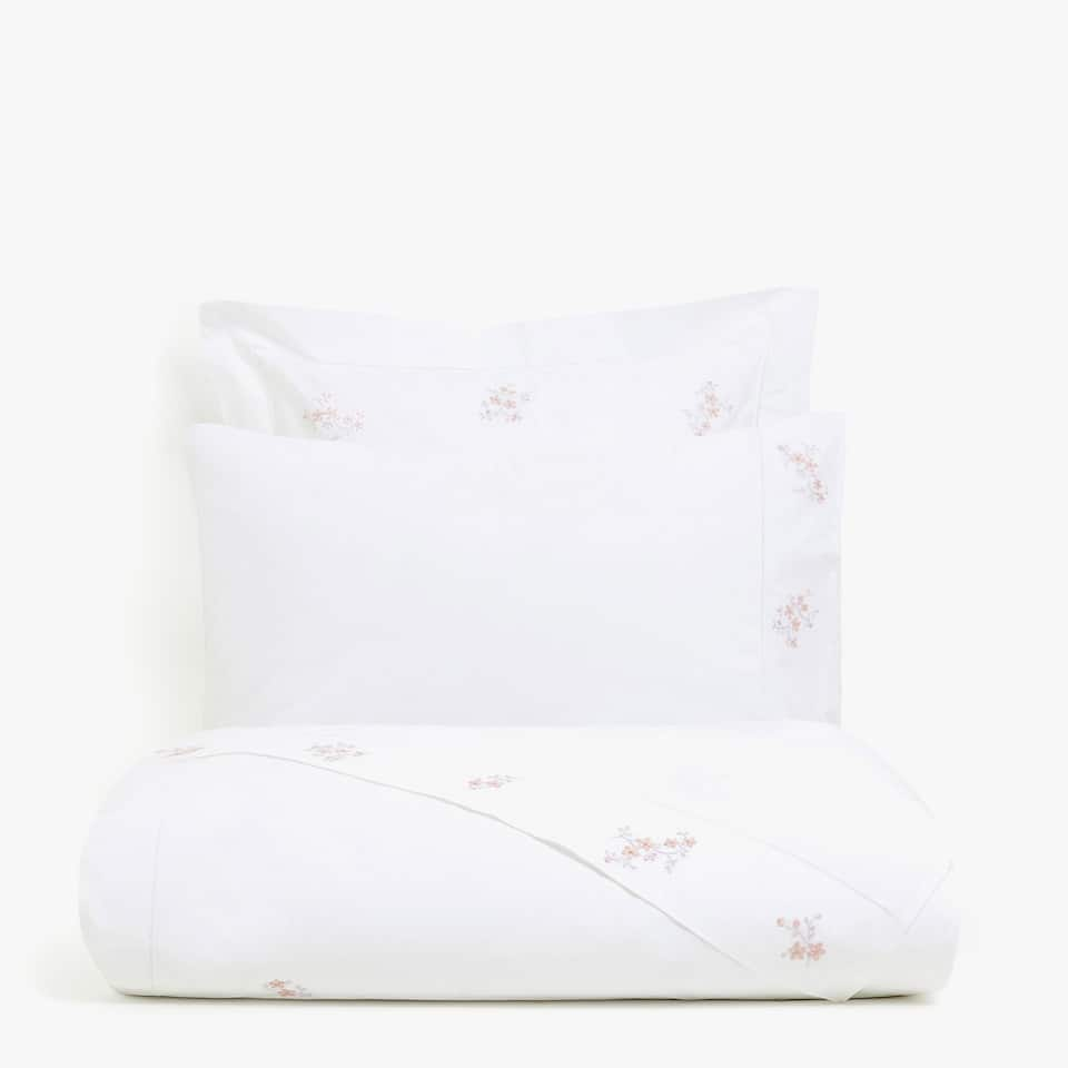 DUVET COVER WITH EMBROIDERED FLORAL DETAILS