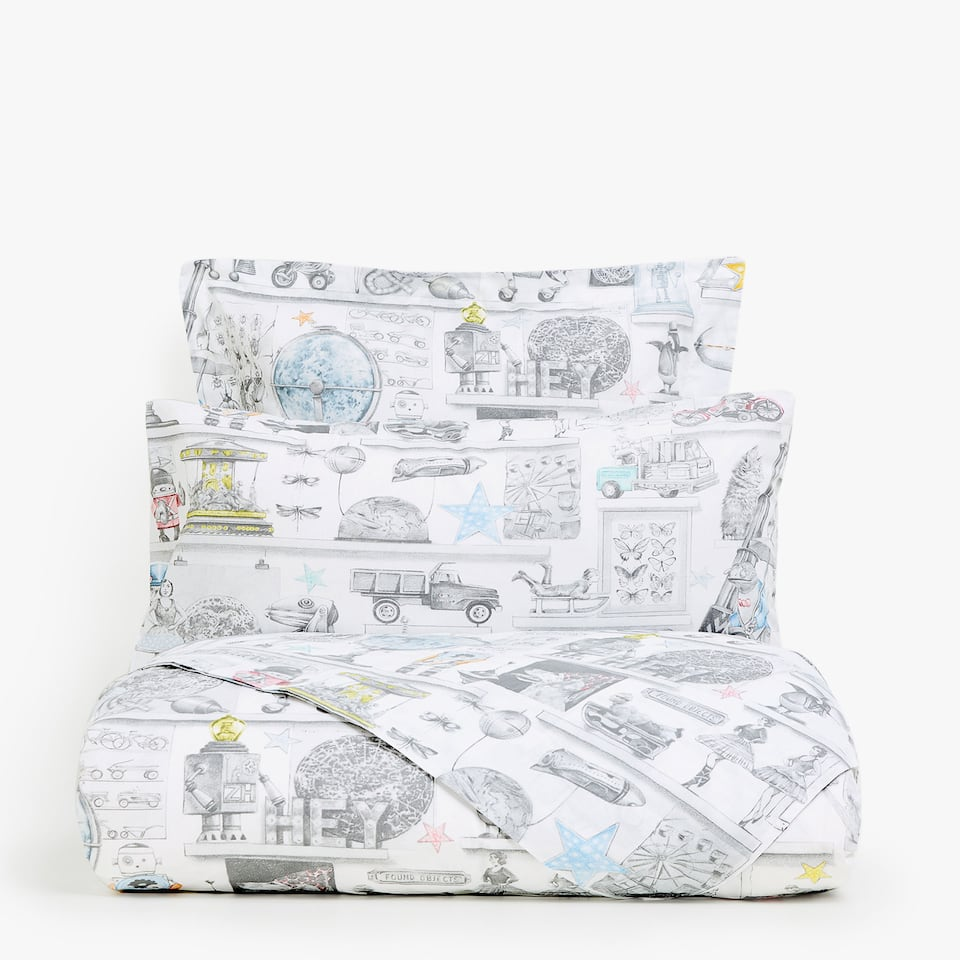 TOY PRINT DUVET COVER