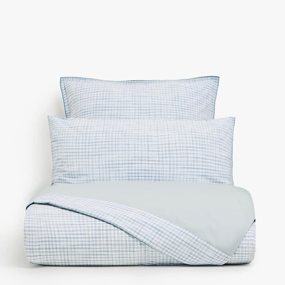 DYED THREAD CHECKED DUVET COVER