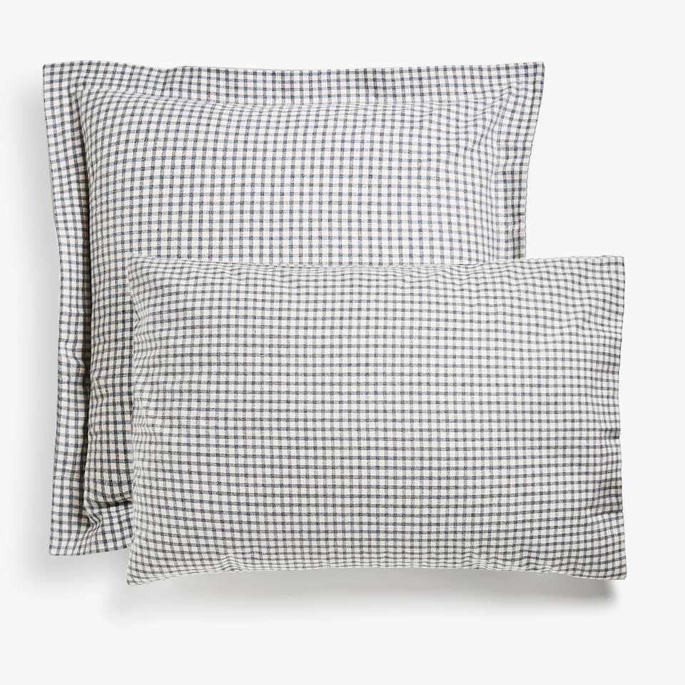 CHECKED FLANNEL PILLOW CASE