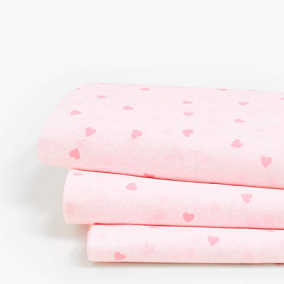 PINK HEART PRINT TOP SHEET