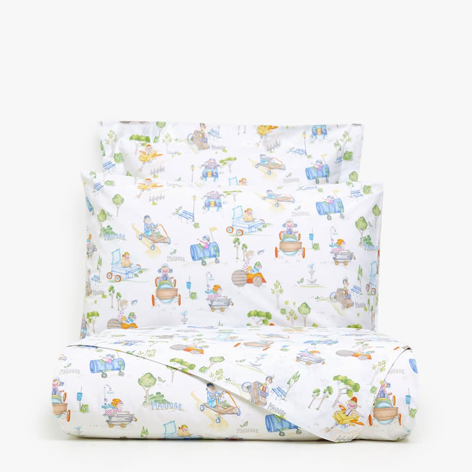 CRAZY CARS PRINT DUVET COVER
