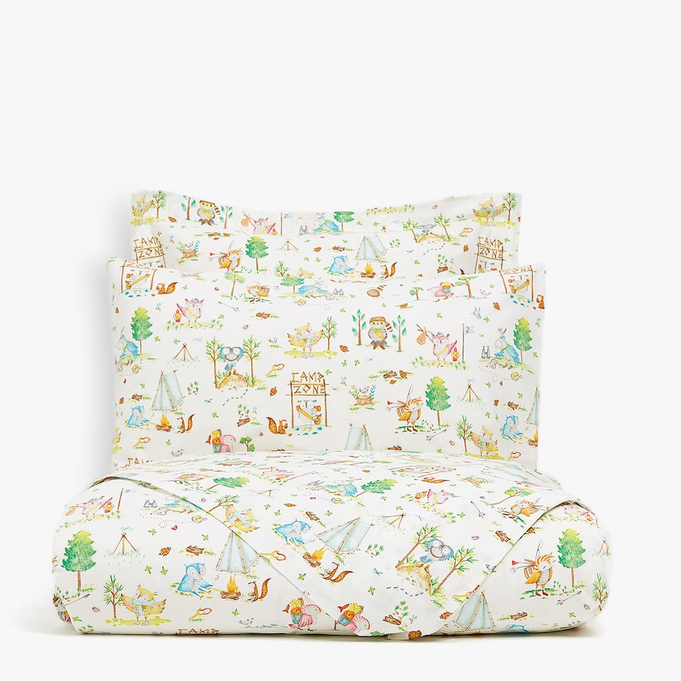 ANIMAL CAMP PRINT DUVET COVER