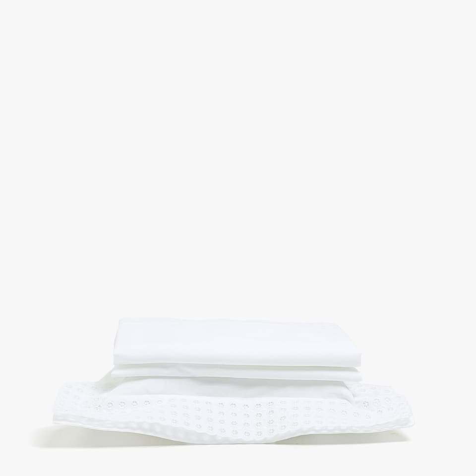 EMBROIDERED BORDER SHEET SET FOR MOSES BASKET AND MINI COT