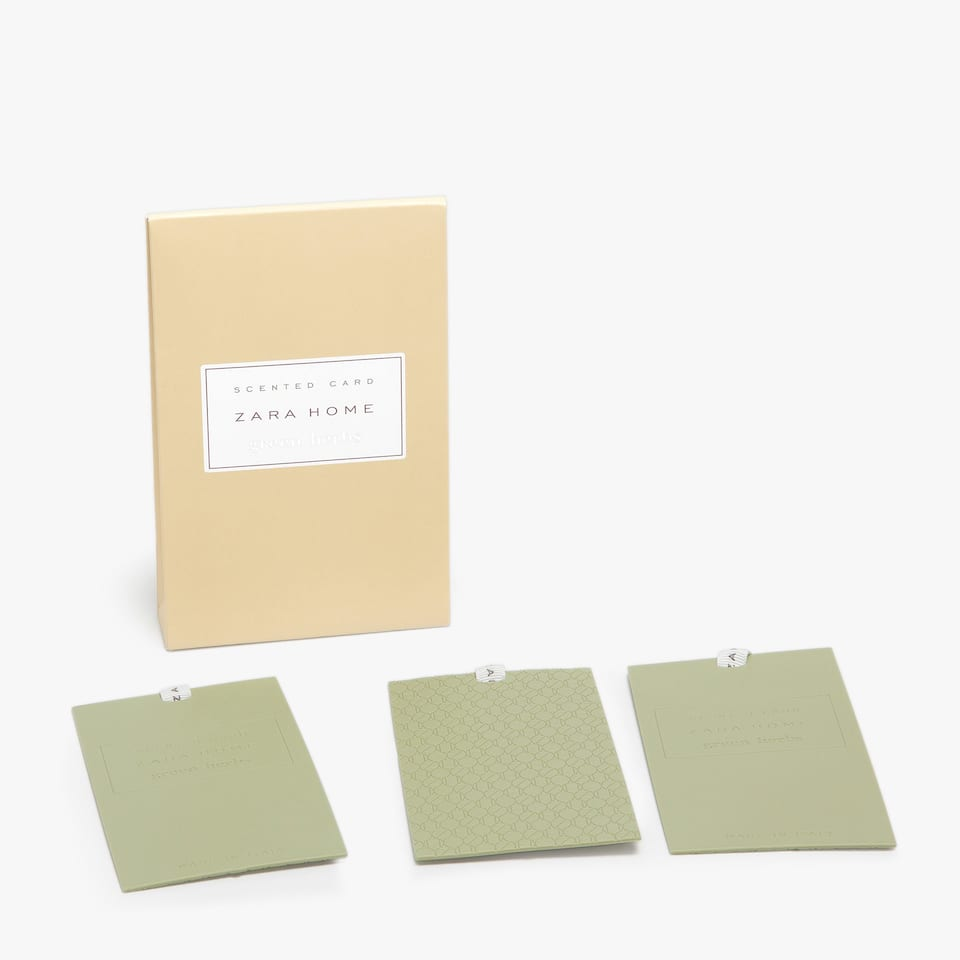 Green Herbs Scented Card (Set of 3)
