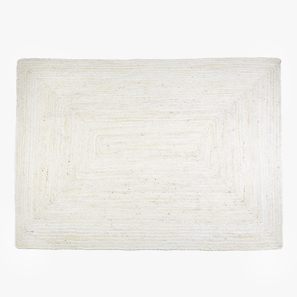 NATURAL-COLOURED JUTE RUG