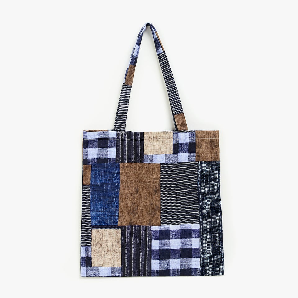 CONTRASTING COTTON BAG