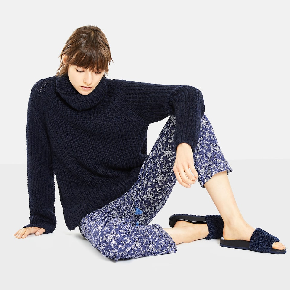 FLORAL PRINT COTTON TROUSERS