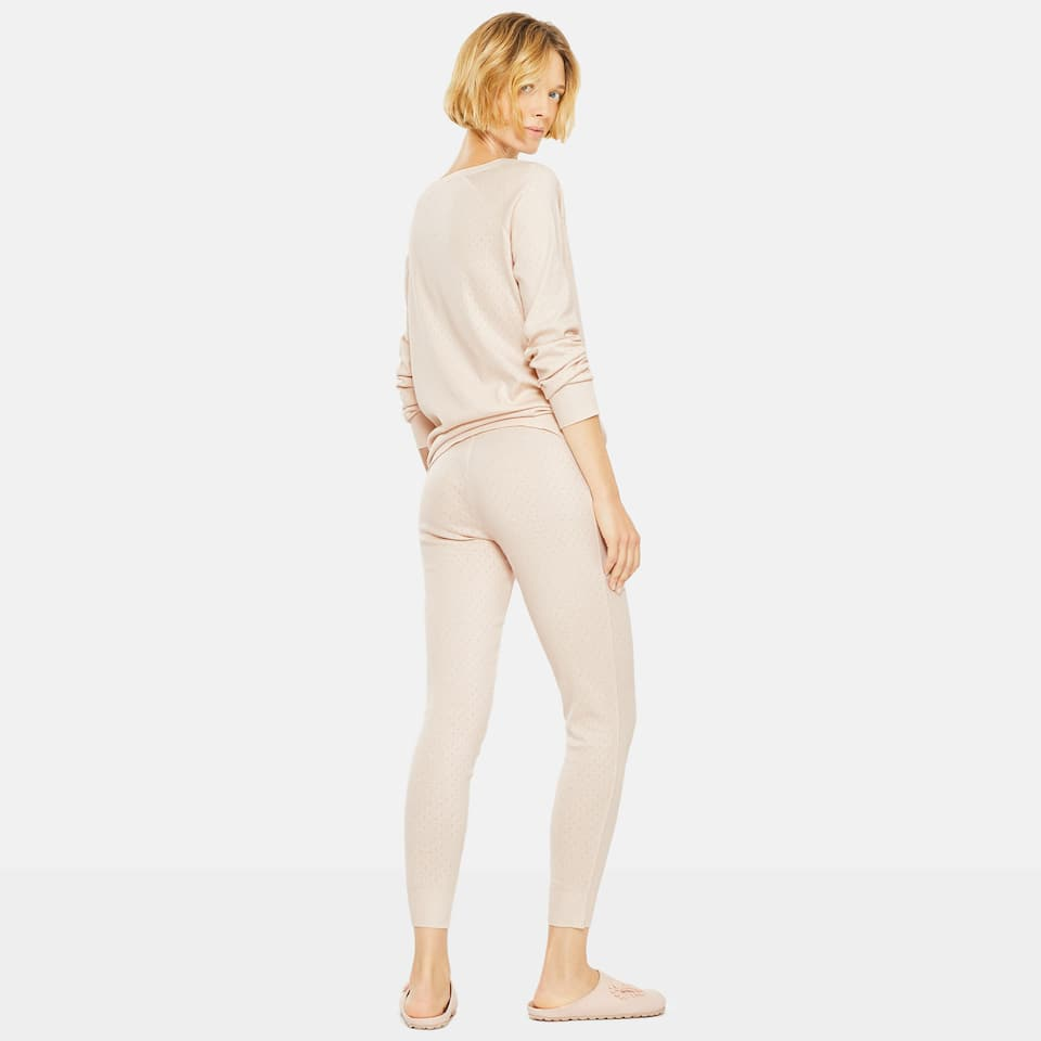POINTELLE COTTON TROUSERS