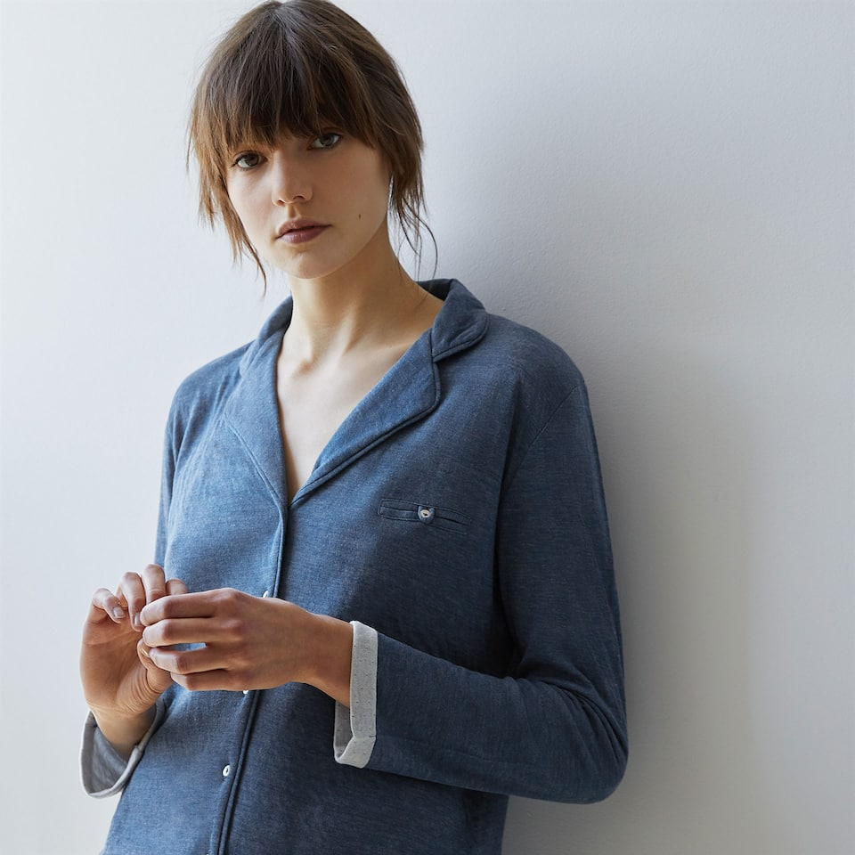 PYJAMA SET WITH SHIRT AND LONG TROUSERS
