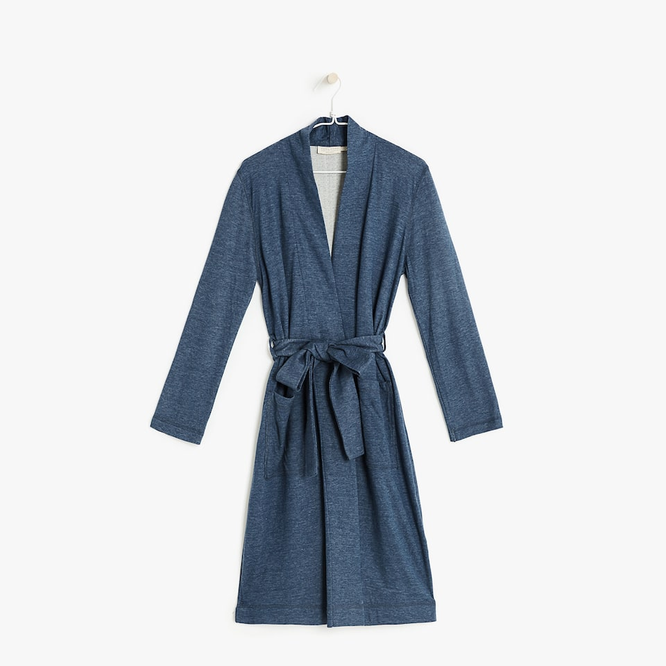 DOULBE FABRIC MELANGE DRESSING GOWN