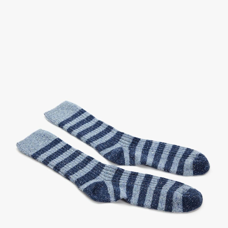 MELANGE STRIPED SOCKS