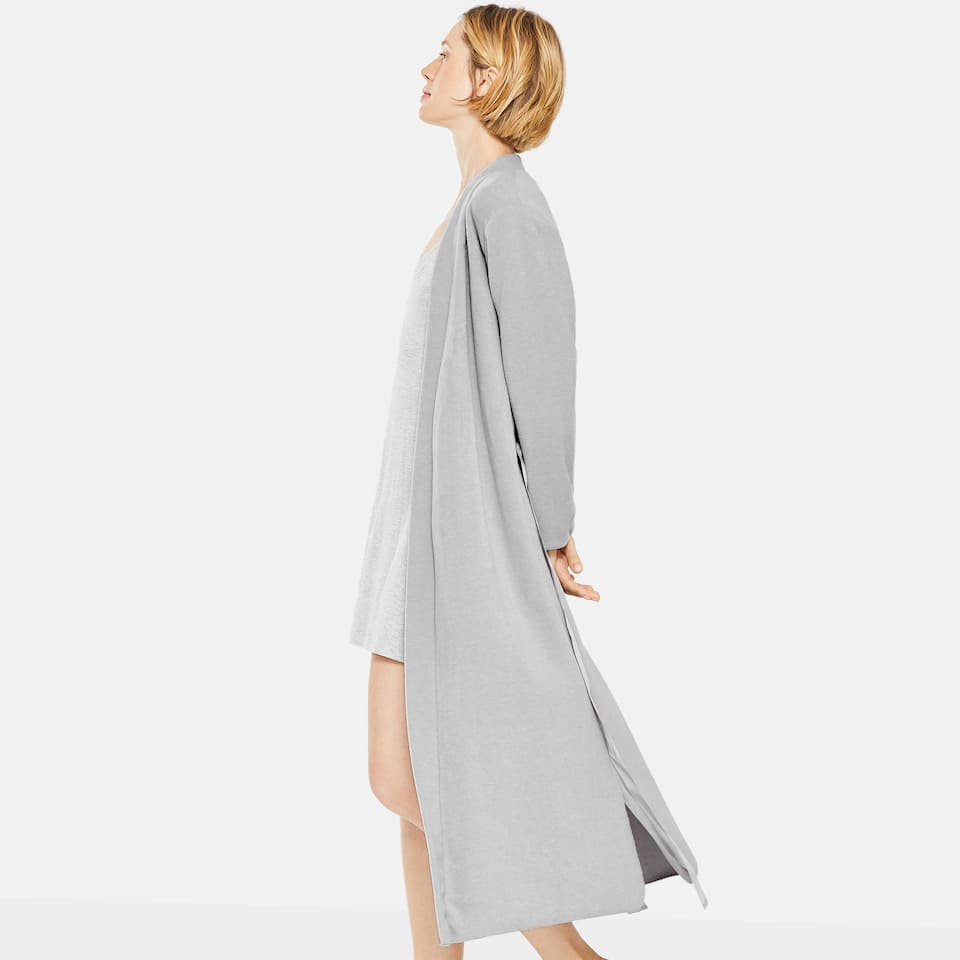 DRESSING GOWN WITH SATIN BELT