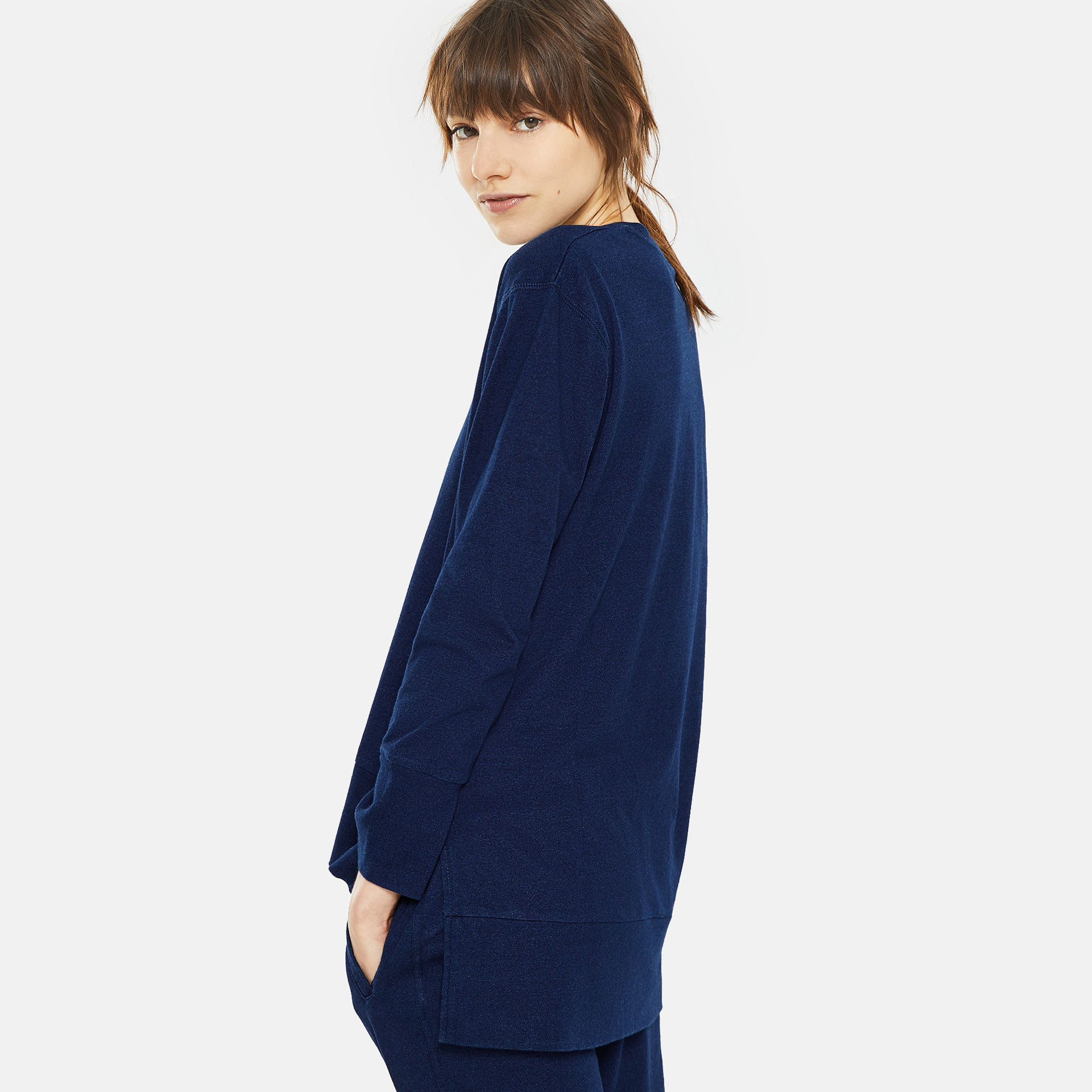 NAVY BLUE COTTON SWEATSHIRT