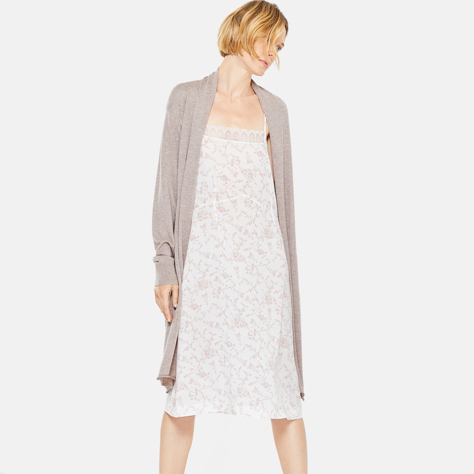 HEATHER KNIT DRESSING GOWN