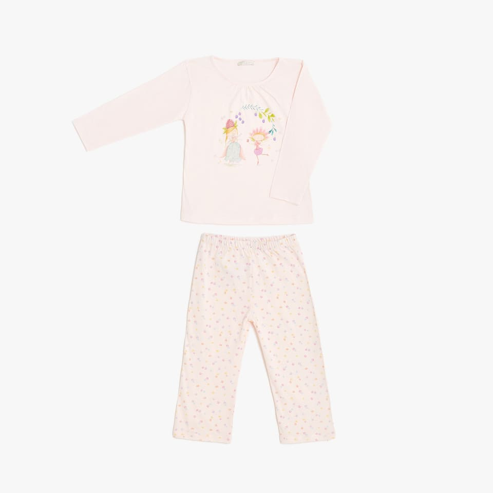 Fairy print cotton pyjamas