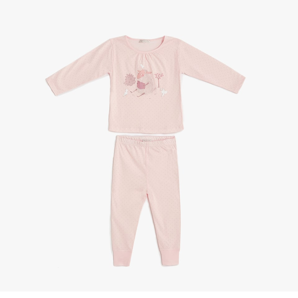 Sheep print cotton pyjamas