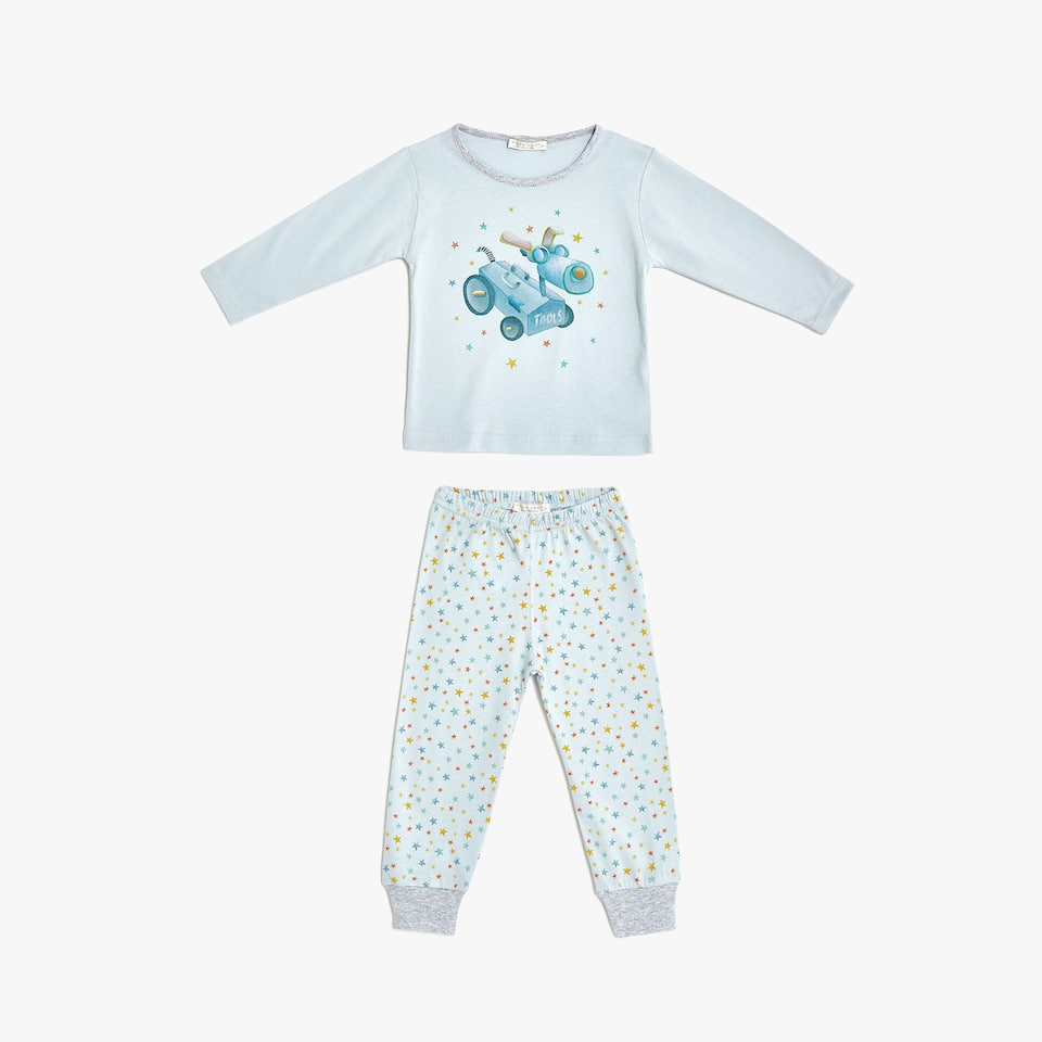 Star and robot cotton pyjamas