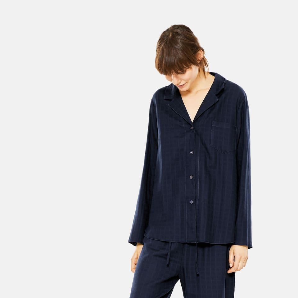 CHECKED LONG SLEEVE COTTON SHIRT