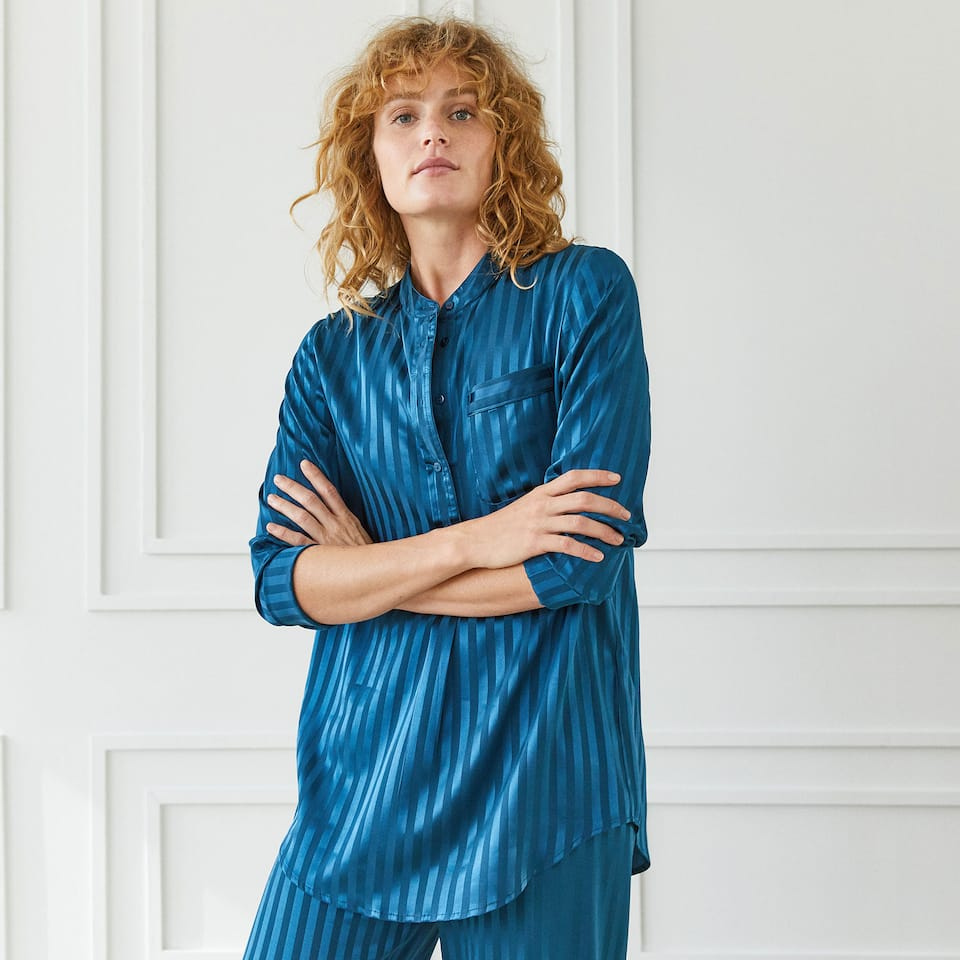 BLUE STRIPED TUNIC