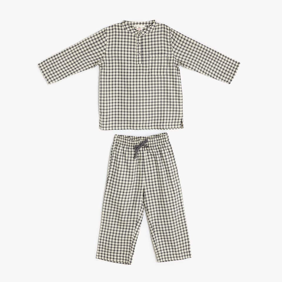Checked cotton pyjamas