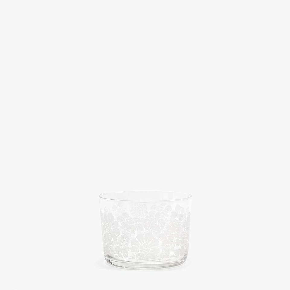 VASO VIDRIO VINO 22CL DECO DAMASCO