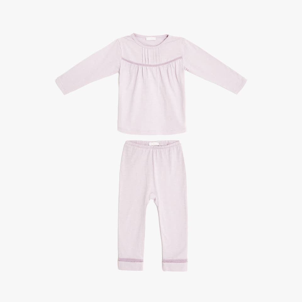 Cotton pyjamas with decorative details