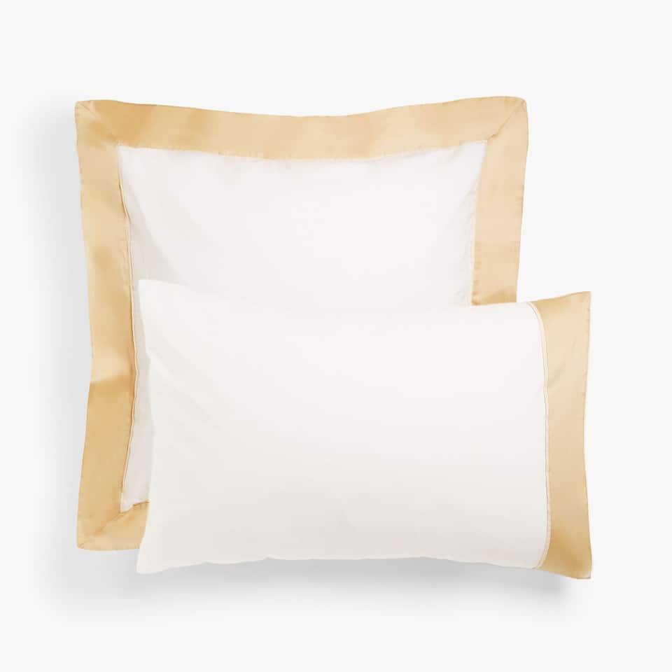 Pillow case with gold edge
