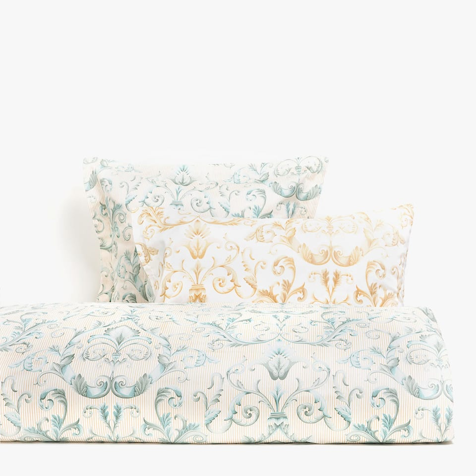 Decorative print satin duvet cover